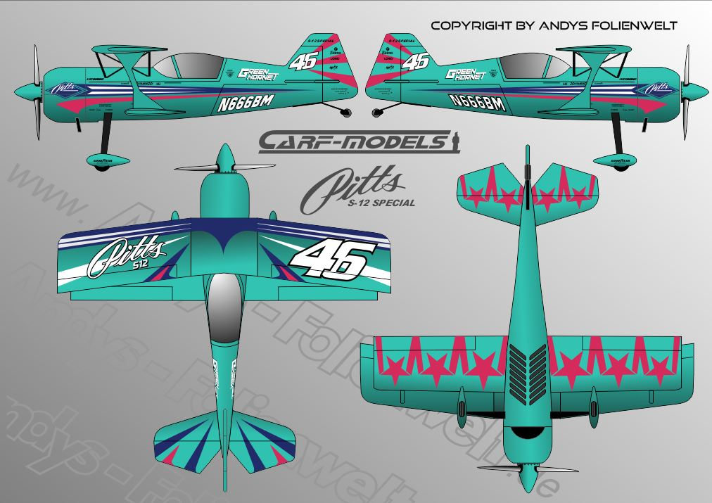 Pitts S12 CARF Lightgreen