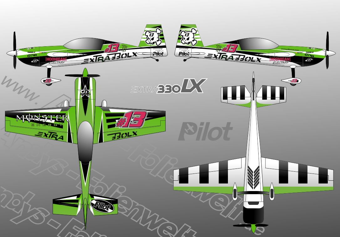 Extra 330 LX Pilot RC 2018 green monster