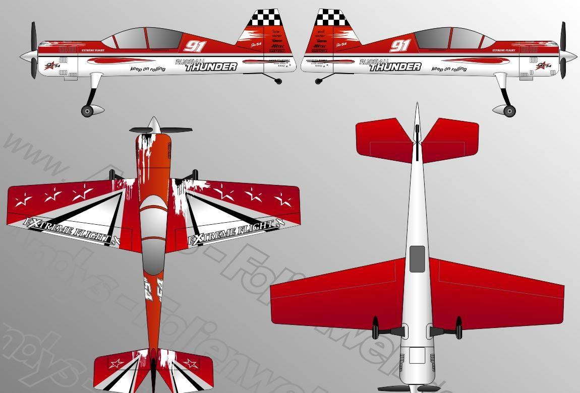 Yak 54 Extreme Flight red white 88